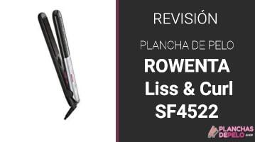 Plancha de Pelo Rowenta Liss & Curl SF4522